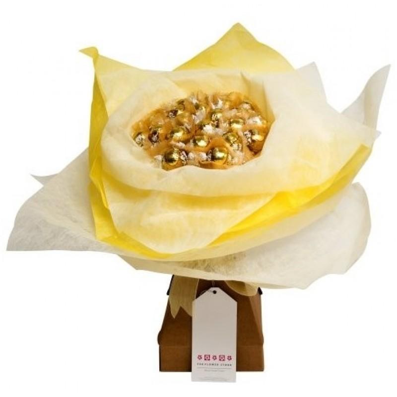 Lindt - букет бонбони в златисто и бяло