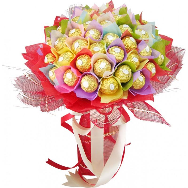 Шоколадов букет Дъга
