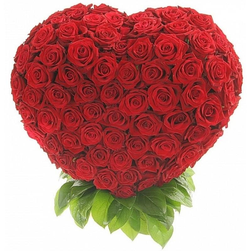 Композиция от 201 Червени Рози във форма на сърце