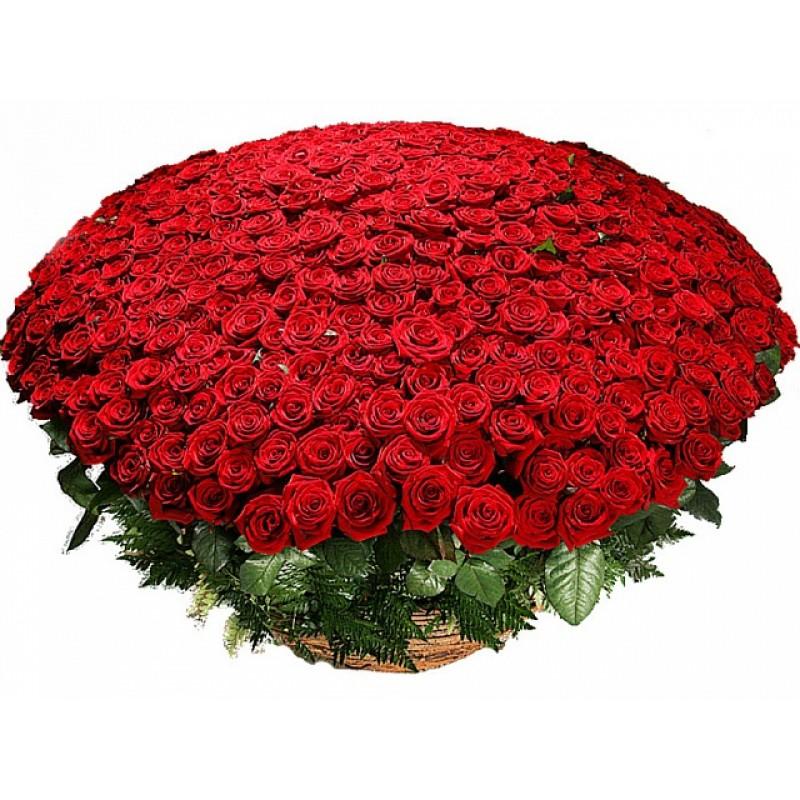 Кошница от 1001 червени рози